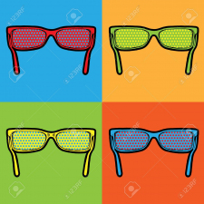 sunglasses lichtenstein pop art