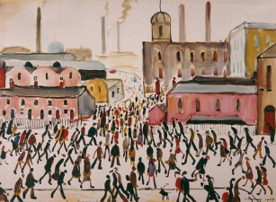 LS Lowry, Going to Work, 1959