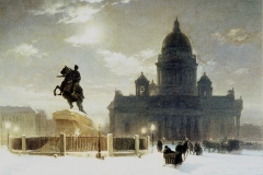 Vas.Surikov. Bronze Horseman on the Senate Square. Rusian Museum